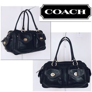Coach Legacy Pocket Collection Black Calfskin Bag
